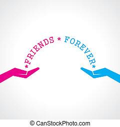 giorno, felice, scheda, amicizia, augurio