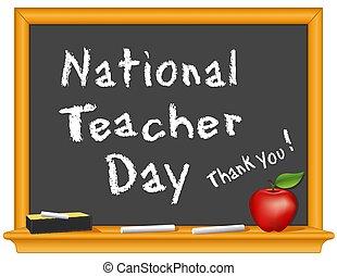 giorno, insegnante, ringraziare, you!, nazionale