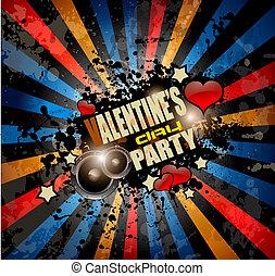 giorno, invito, fondo, festa, aviatore, valentine