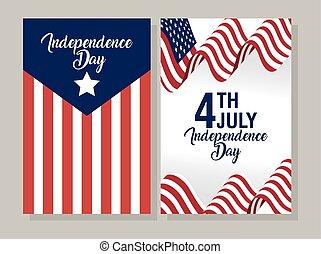 giorno, stati uniti, indipendenza, bandiera