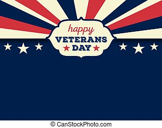 giorno veterani, fondo, felice
