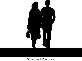 giovane coppia, persone.