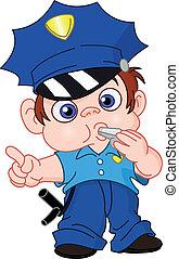 giovane, poliziotto