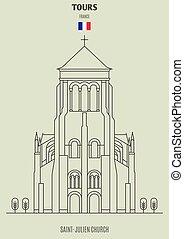 giri, icona, punto di riferimento, saint-julien, france.