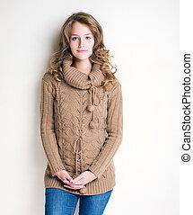 girl., moda, inverno
