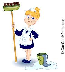 girl., pulizia
