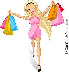 girl:, shopping