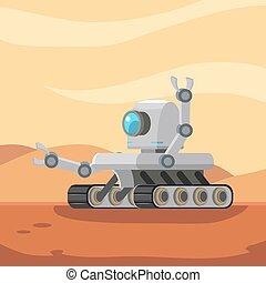 girovago, robot, marte