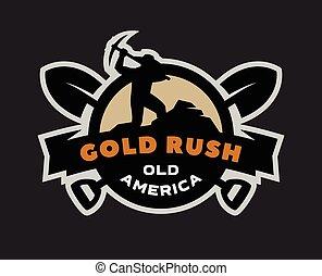giunco, oro, logo., emblema