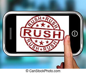 giunco, smartphone, velocità, esposizione
