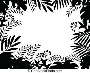 giungla, silhouette