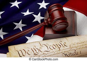 giustizia, americano, natura morta