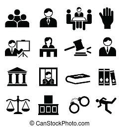 giustizia, legale, icone