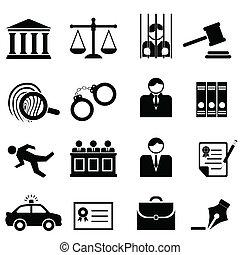 giustizia, legale, legge, icone