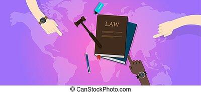 giustizia, legge, legale, corte, martelletto, globale, internazionale, mondo