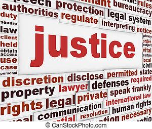 giustizia, manifesto, concetto