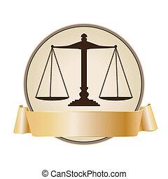 giustizia, simbolo, scala, nastro
