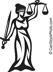 giustizia, statua
