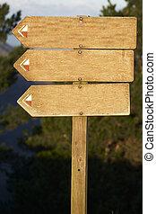 giusto, testo, tabellone, aggiungere, legno, vuoto, 2, tuo