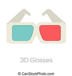 glasses., 3d
