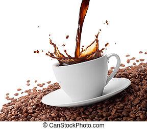 gli spruzzi, caffè