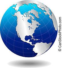 globale, america, mondo, argento