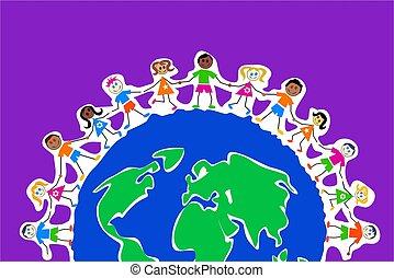 globale, bambini
