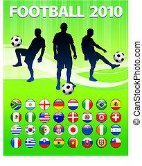 globale, calcio, 2010, fiammifero gioco calcio