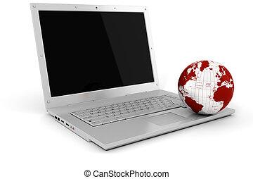 globale, concetto, affari, 3d