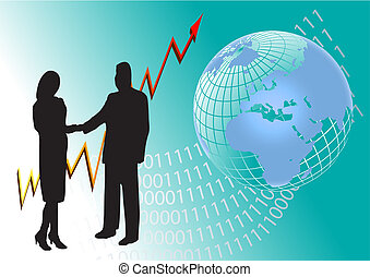 globale, concetto, affari, successo