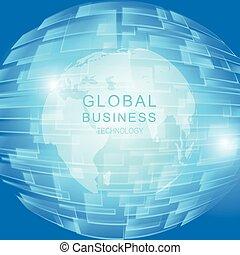 globale, concetto, affari