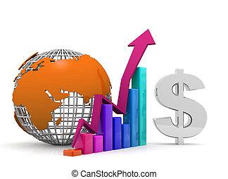 globale, concetto, crescita, affari