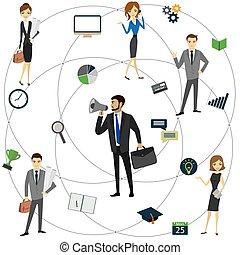 globale, concetto, vector., affari