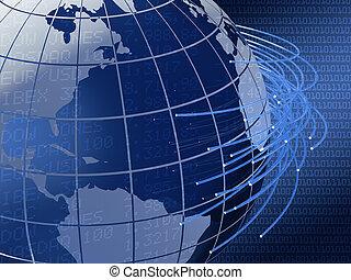 globale, disegno, telecomunicazioni, fondo