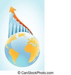 globl, crescita, concetto, affari