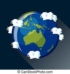 globo, australia, icon.