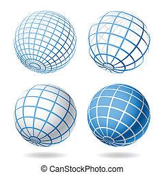 globo, elementi, disegno