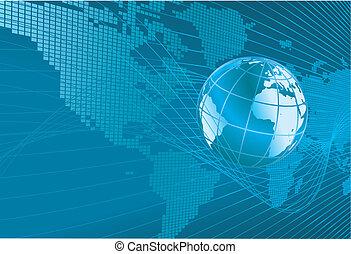 globo, mappa fondo, mondo