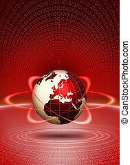 globo mondo, azione, tecnologico