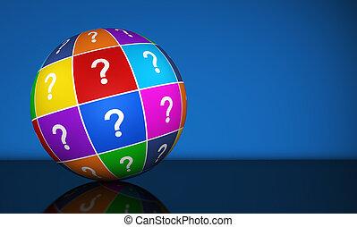 globo, punto interrogativo