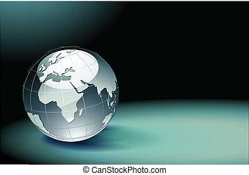 globo, terra, lucido