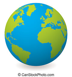 globo terra, naturale