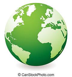 globo terra, verde