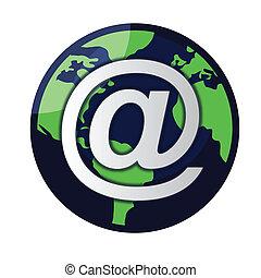 globo, vettore, email, /