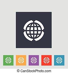 globo, vettore, illustrazione, icona