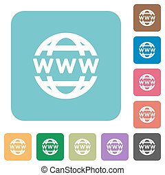 globo, www, appartamento, icone