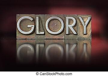 gloria, letterpress