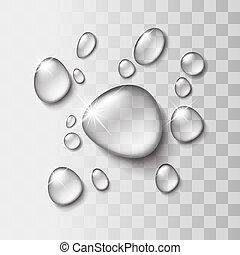 goccia acqua, trasparente