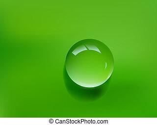 goccia acqua, verde