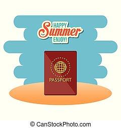 godere, estate, passaporto